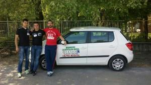 Profesor Aleksandar Colovic, Arnautovic Danko i Dosic Rade osvajac treceg mesta u kategoriji vozac motornih vozila C kategorije