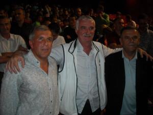 Tri čačanske košarkaške legende: Željko Obradović, Dragan Kićanović i Radmilo Mišović