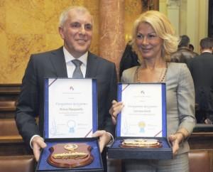 Nagrada za životno delo: Željko Obradović i Svetlana Kitić